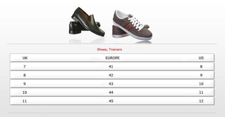 Uk Mens Shoe Size To Us