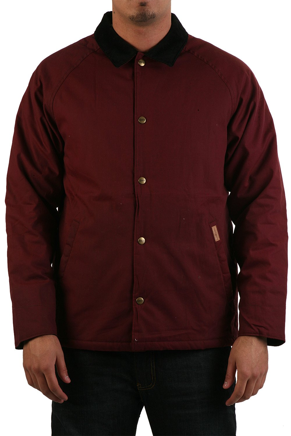 Men 39 s carhartt james jacket in burgundy red i013291 6100 for Carhartt burgundy t shirt