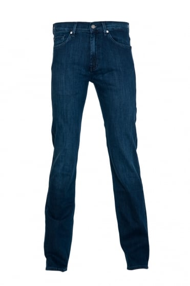 7 For All Mankind Slim Fit Denim Jeans in Indigo Blue