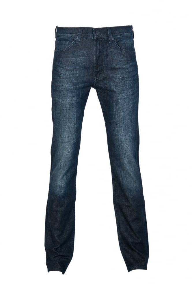 7 For All Mankind Slim Fit Denim Jeans in Indigo Blue SMSK820ND