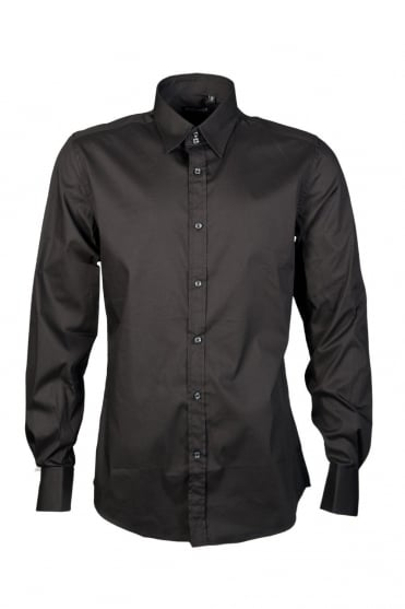Antony Morato Business Shirt in Black MMSL00137FA450001-9000