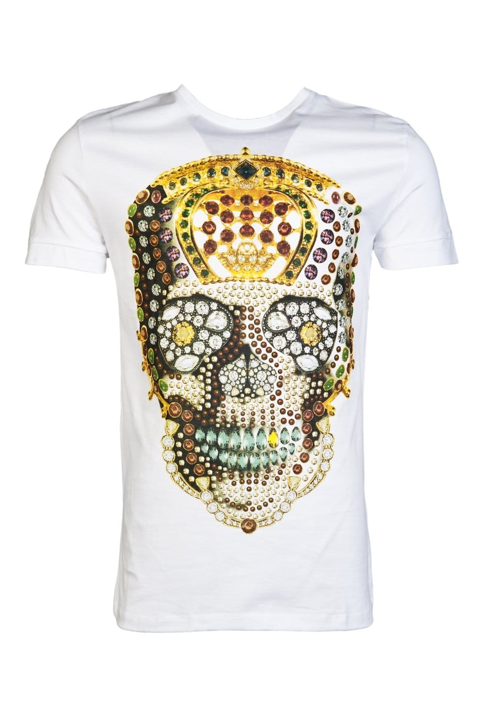 Antony morato printed designer t shirt in white for Luxury t shirt printing