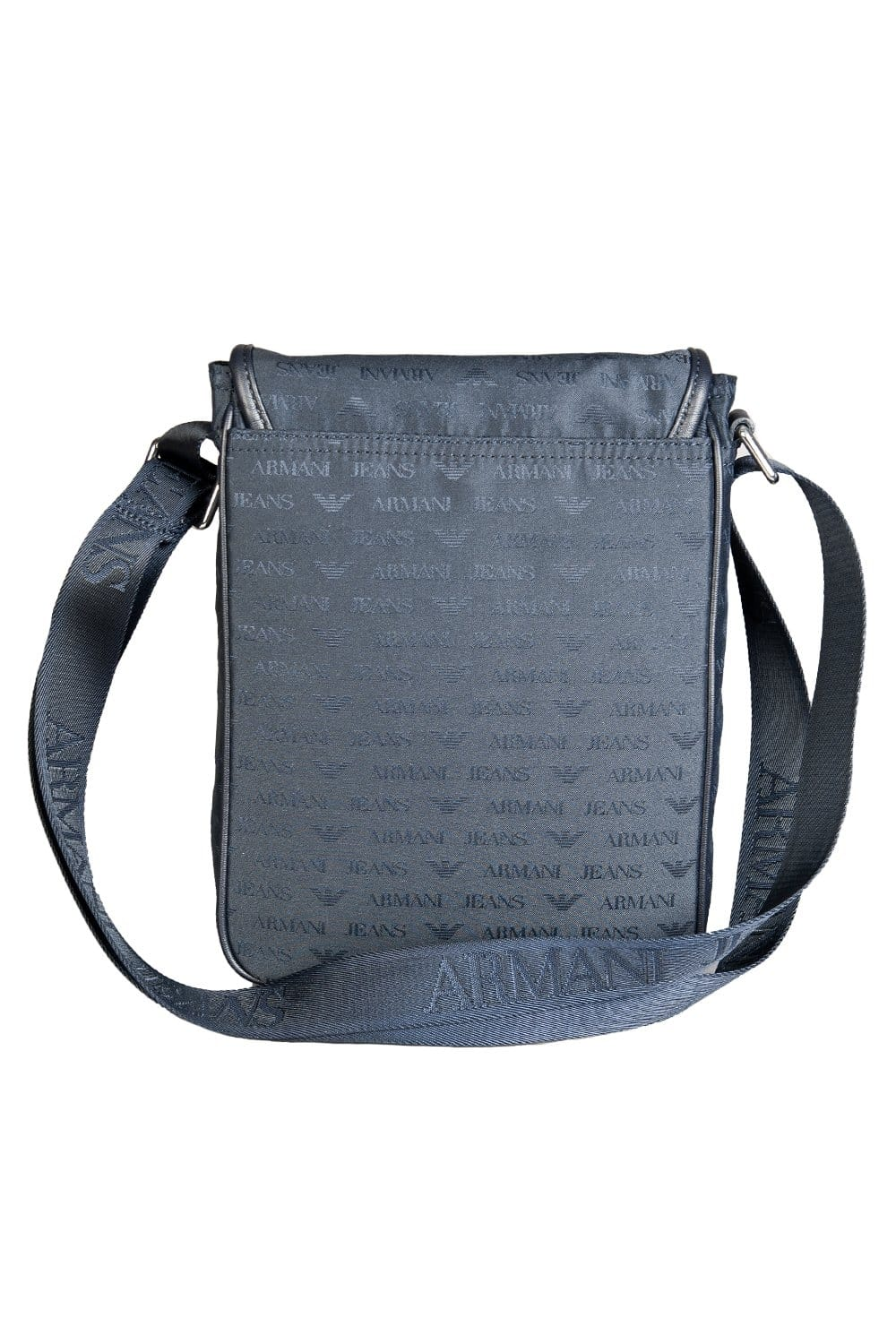 d8025e11b0f9 Armani AJ Logo Design Tablet Messenger Bag in Navy Blue .