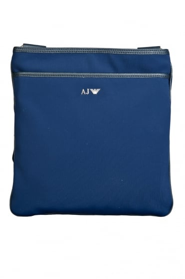 Armani AJ Messenger Tablet Bag in Navy Blue and Black 06292R7