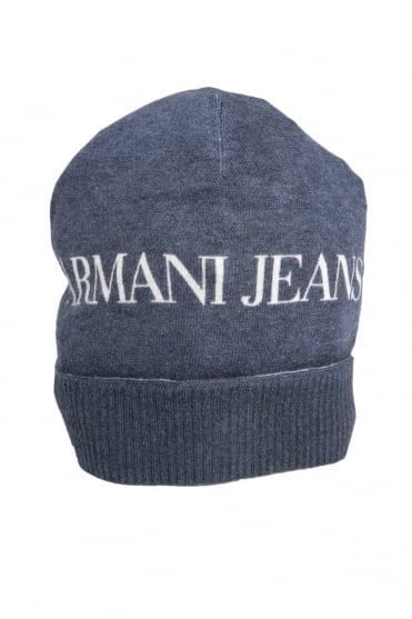 Armani Jeans Beanie Hat in Black and Navy Blue U6411C2
