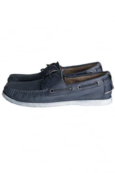 Armani Jeans Boat Shoes in Brown and Navy Blue V657473