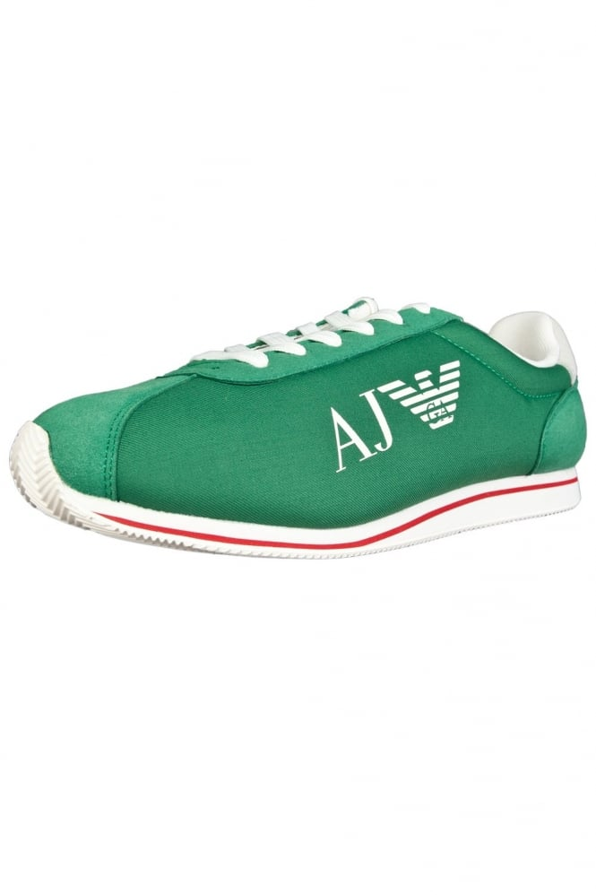 Armani Jeans Canvas Trainers in Black White  Red and Green 0653331