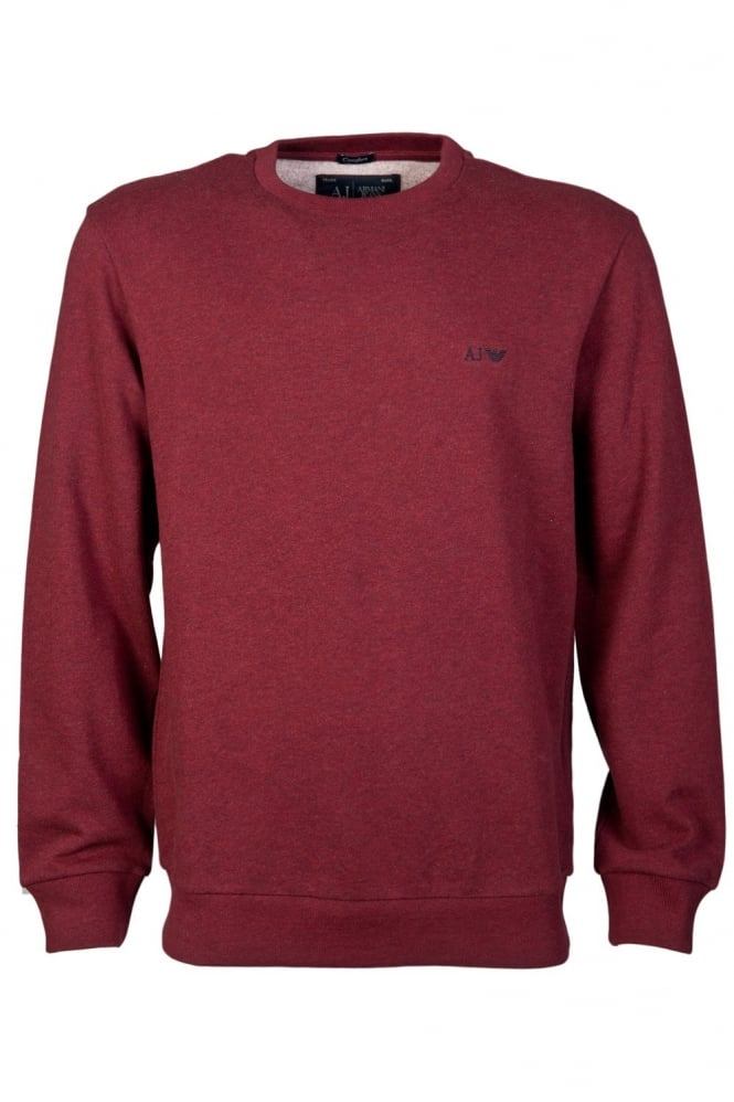 Armani Jeans Comfort Fit Sweatshirt in Black, Grey, Burgundy Red and Blue 06M28RN