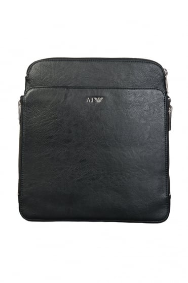 Armani Jeans Faux Leather Messenger Bag B6251S6