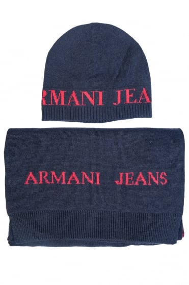 Armani Jeans Gift Set Hat and Scarf 937503 CC783