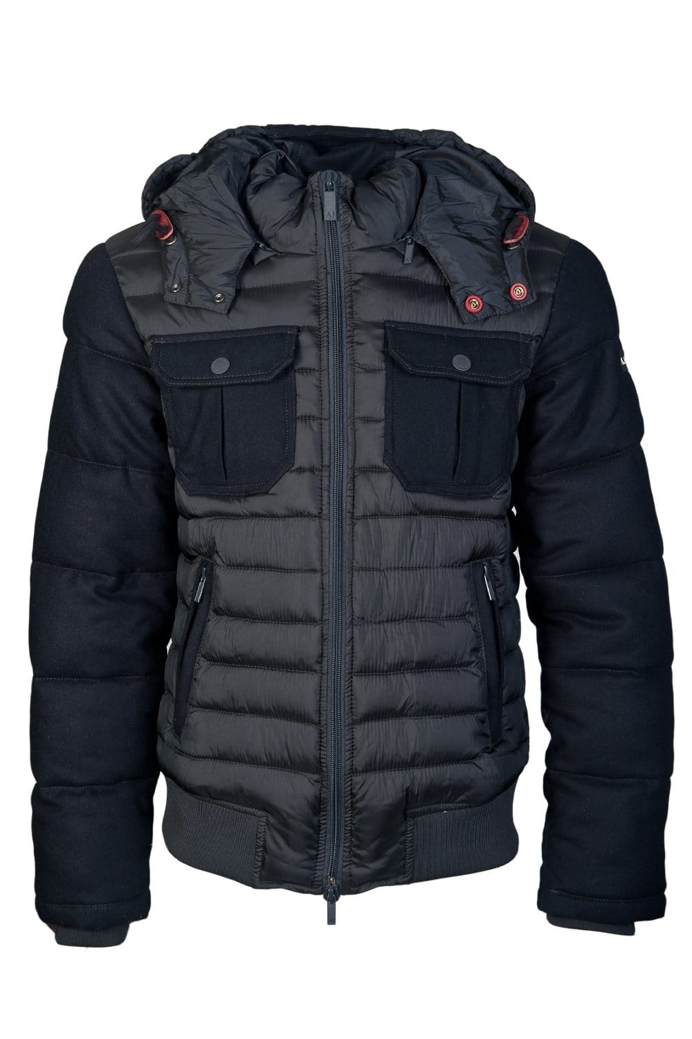 Wrap yourself in this navy faux fur hooded quilted padded puffer jacket for this season. UK next day delivery- order before 3pm.