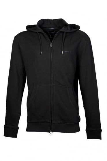 Armani Jeans Hooded Sweatshirt Black and Navy Blue 06M20LT