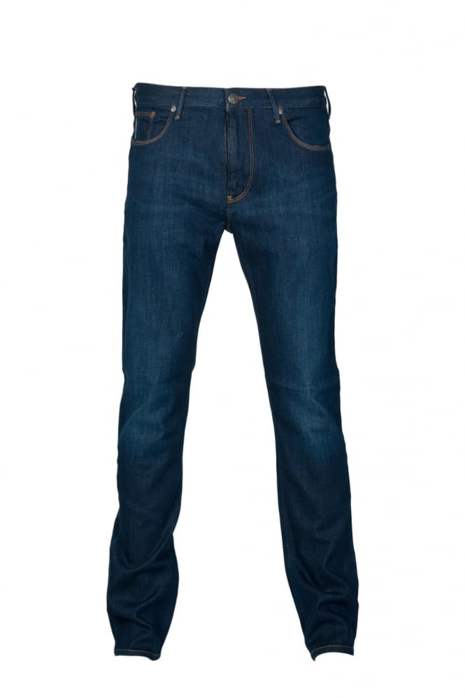 Armani Jeans J06 Fitted Denim Jeans in Indigo Blue 06J83 2S