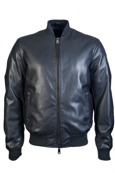 Armani Jeans Jacket Leather Style 6Y6B64 6EAAZ