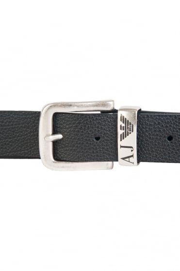 Armani Jeans Leather Belt in Black 06196R6