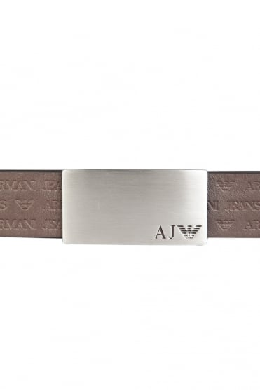 Armani Jeans Leather Belt in Black and Brown 06105R2