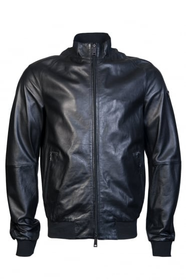 Armani Jeans Leather Jacket 3Y6B50 6LBBZ