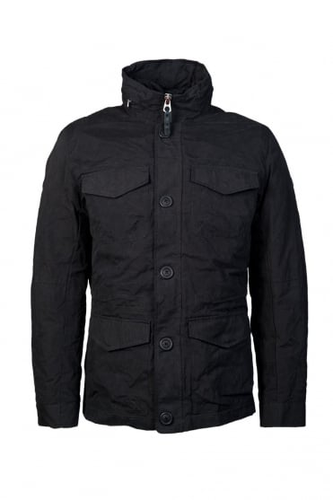 Armani Jeans Parka Jacket in Navy Blue Z6K10XM