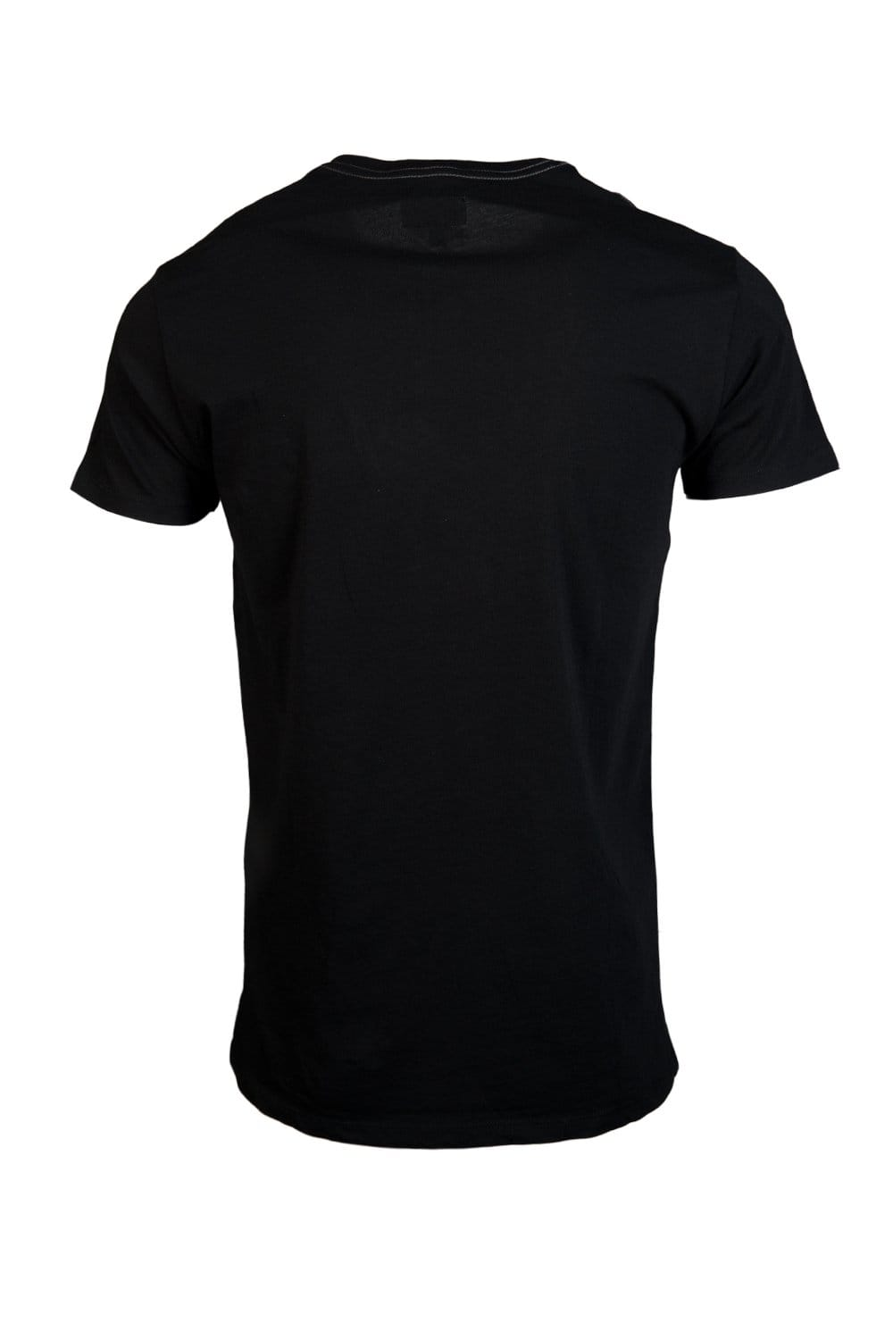 Black t shirt armani - Armani Jeans Printed Logo Design T Shirt In Black And Navy Blue A6h13mv