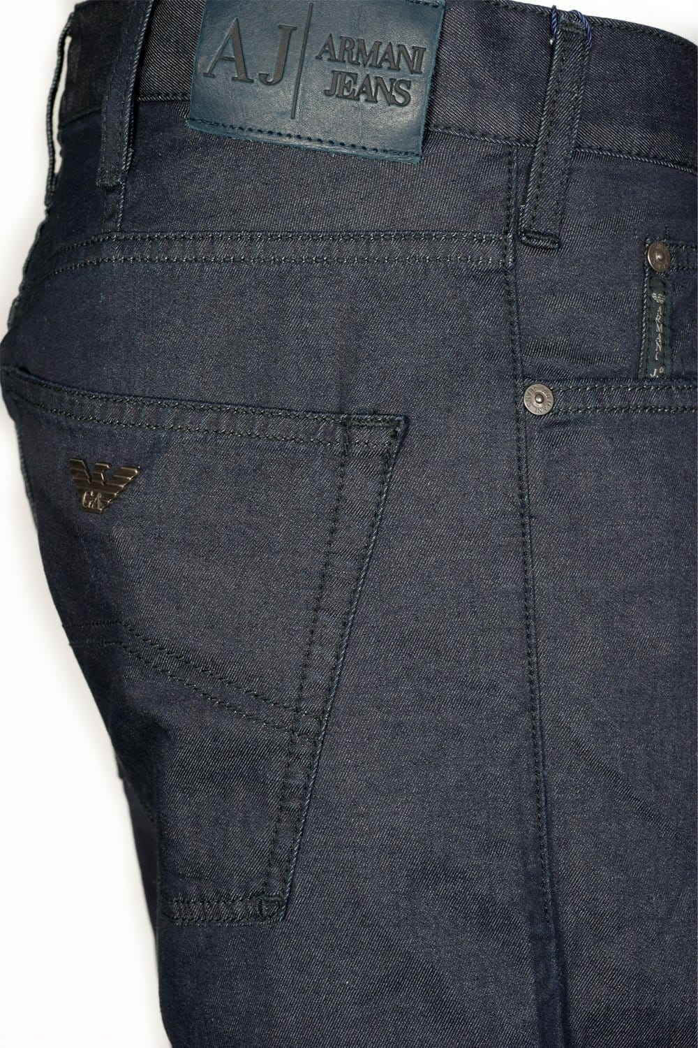 Armani Jeans Regular Fit Stretch Denim Jeans in Indigo and ...