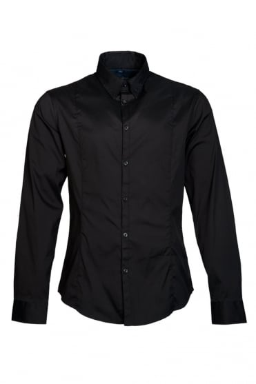 Armani Jeans Shirt in Black, White, Grey and Navy Blue 06C68JS