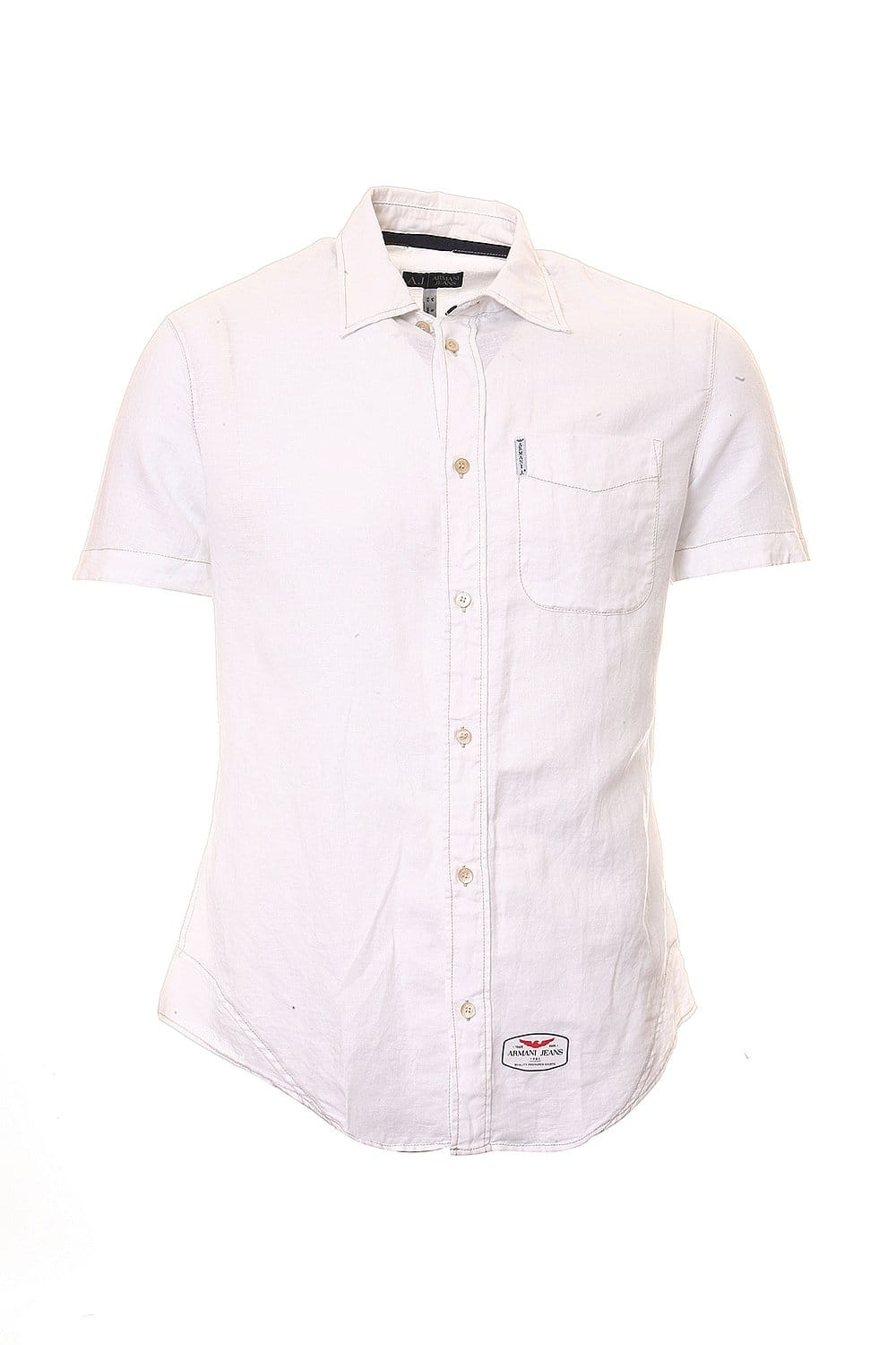 ec2cd7a5 Armani Jeans Short Sleeve Shirt in Pink Blue Black and White T6C47GU ...