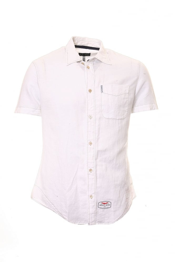 Short Sleeve Shirt in Pink Blue Black and White T6C47GU