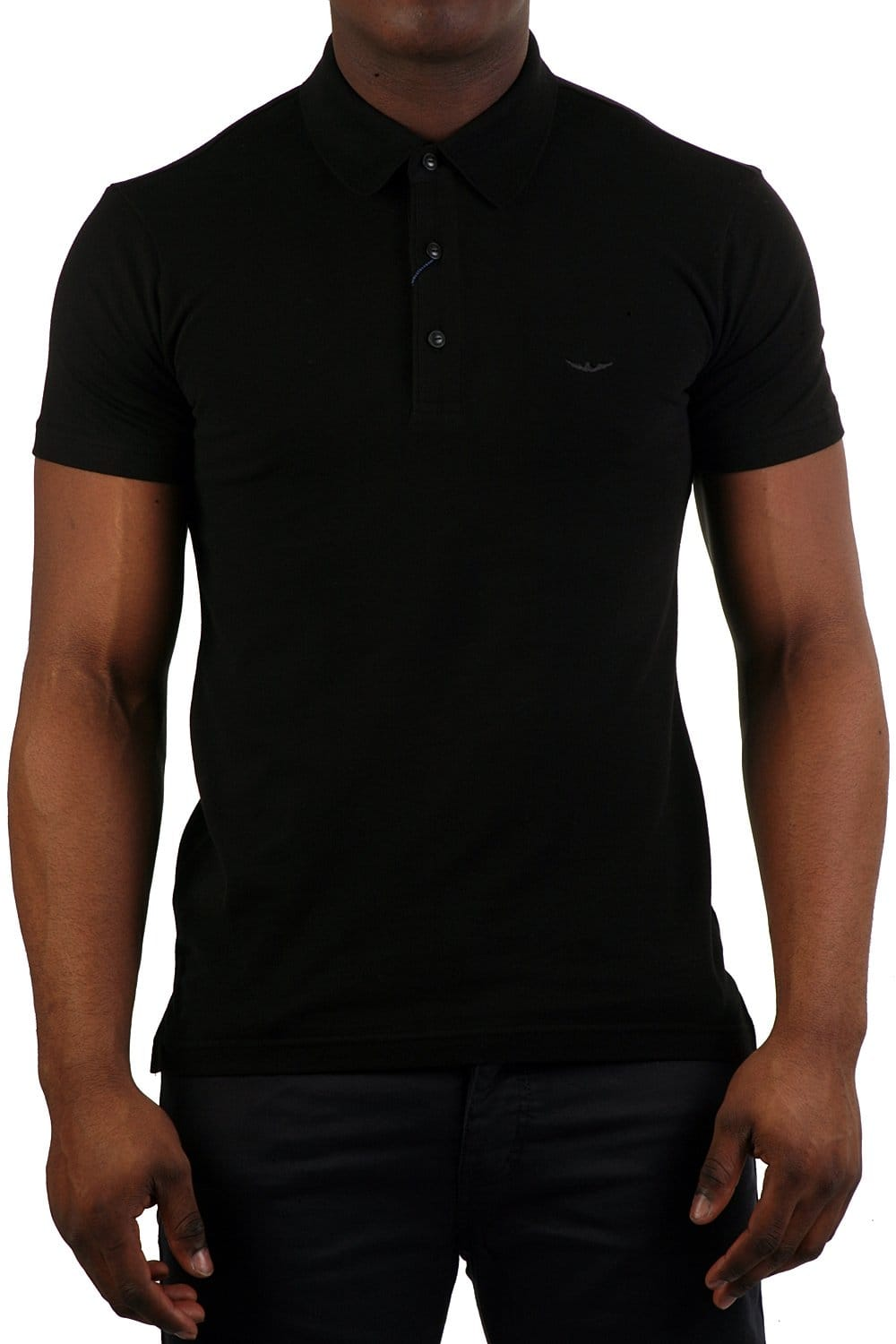 Black t shirt armani - Armani Jeans Slim Fit Polo T Shirt In Black S6m65qu 12