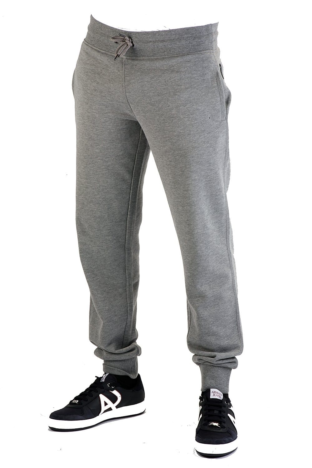 Armani Jeans Slim Fit Tracksuit Jogging Bottoms In Grey