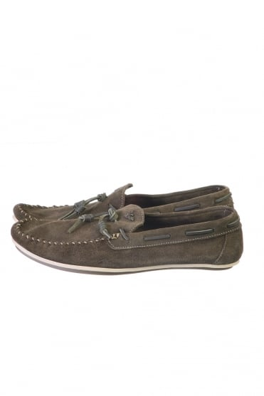 Armani Jeans Suede Loafers in Blue and Green T6585ZJ