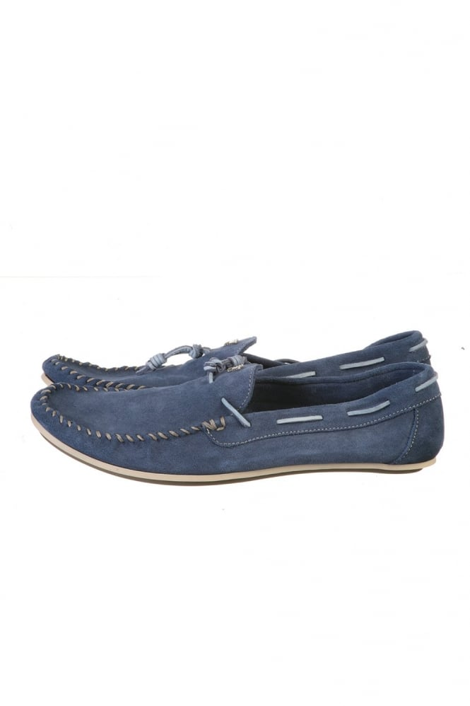 Suede Loafers in Blue and Green T6585ZJ