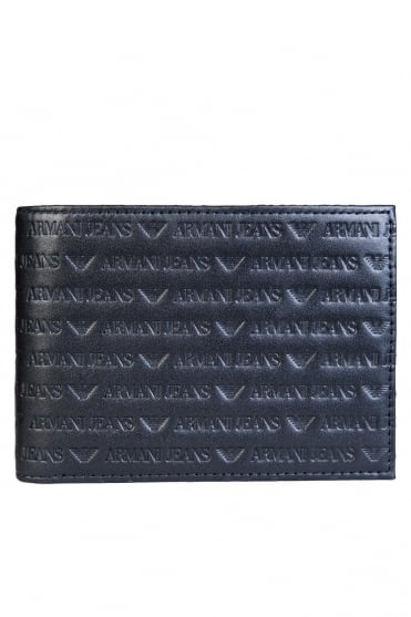 Armani Jeans Wallet Bifold 14 Card Holder Slots 938539 CC999
