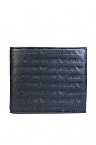 Armani Jeans Wallet Bifold 3 Card Holder Slots and Coin Pouch 938540 CC999