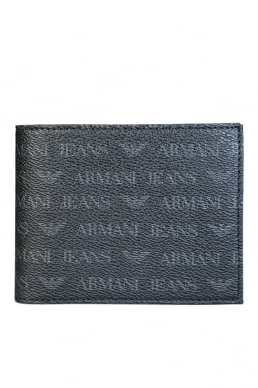 Armani Jeans Wallet Tri-Fold with 8 Card Slots and Coin Pocket 938544CC996