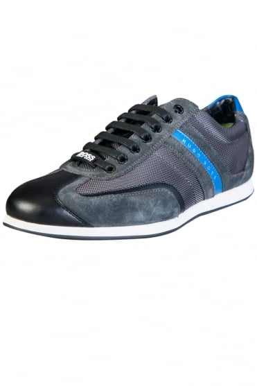 BOSS GREEN Casual Leather Trainers in Black STIVEN 50247608