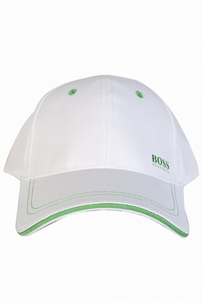 BOSS Green Promotional Giveaway Baseball Cap in White 70006042-00006152070