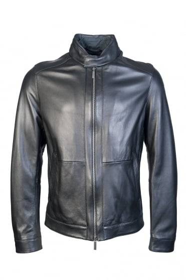 BOSS, HUGO BOSS Leather Jacket NOKAM 50321380