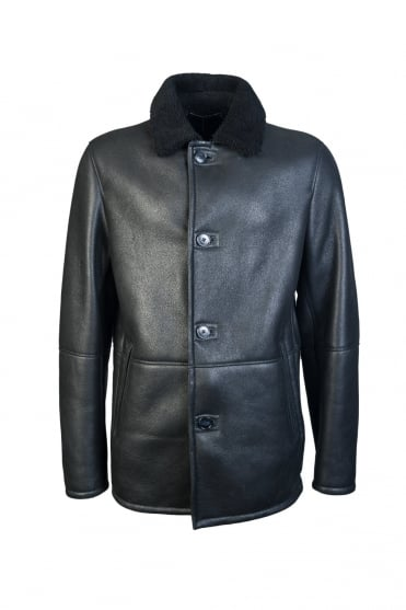 BOSS, HUGO BOSS Shealing Leather Jacket T-CUBIS 50321386
