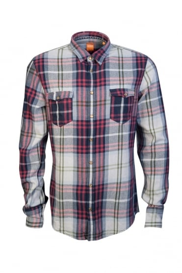 BOSS Orange Check Shirt E-DOSLIME 50325669