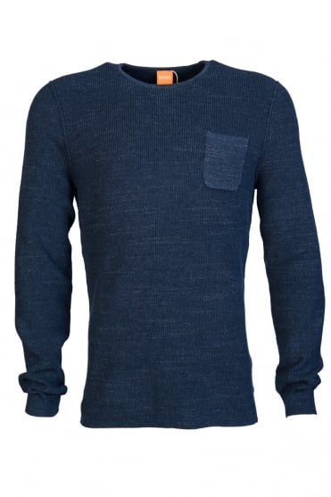 BOSS Orange Jumper Knitwear Zip Neck model