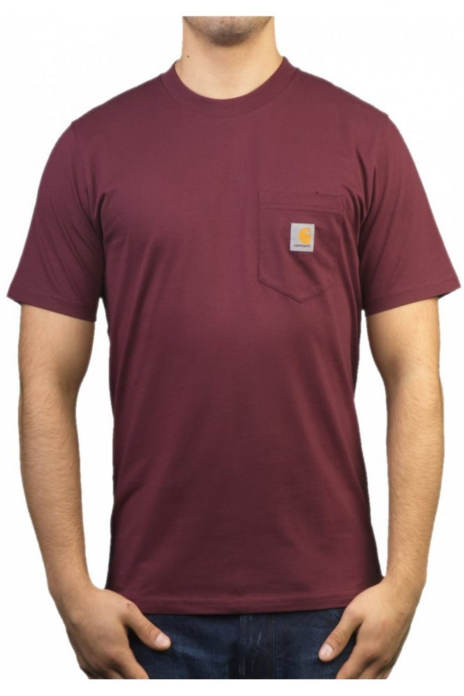 carhartt regular fit t shirt in burgundy red i001304 6100 ForCarhartt Burgundy T Shirt