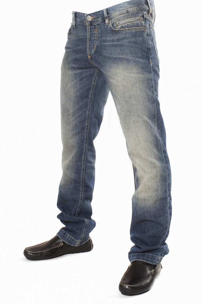 D&G Regular Fit Jeans in Stone Wash Blue  R50791SD91D-B0065