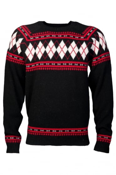 Diesel Designer Knitwear in Navy blue, Black and Red K-ARSHA