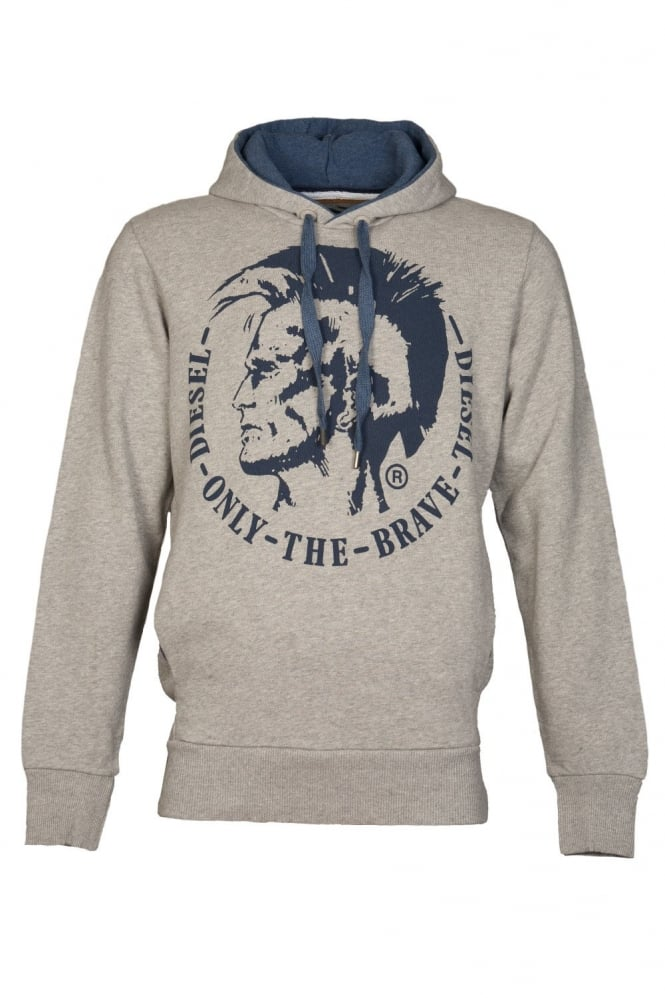 Diesel Hooded Sweatshirt in White  Blue  Black Red and Grey SCENTYN-S