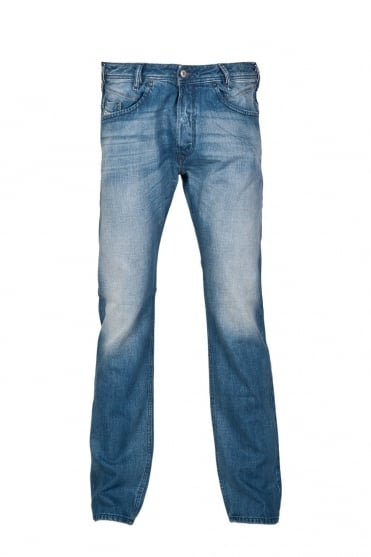 Diesel Regular Fit Denim Jeans in Stonewash Blue IAKOP-0826A