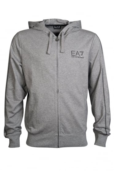 EA7 by Emporio Armani Casual Hooded Sweatshirt in Navy Blue  Black  Red and Grey 2742555P280
