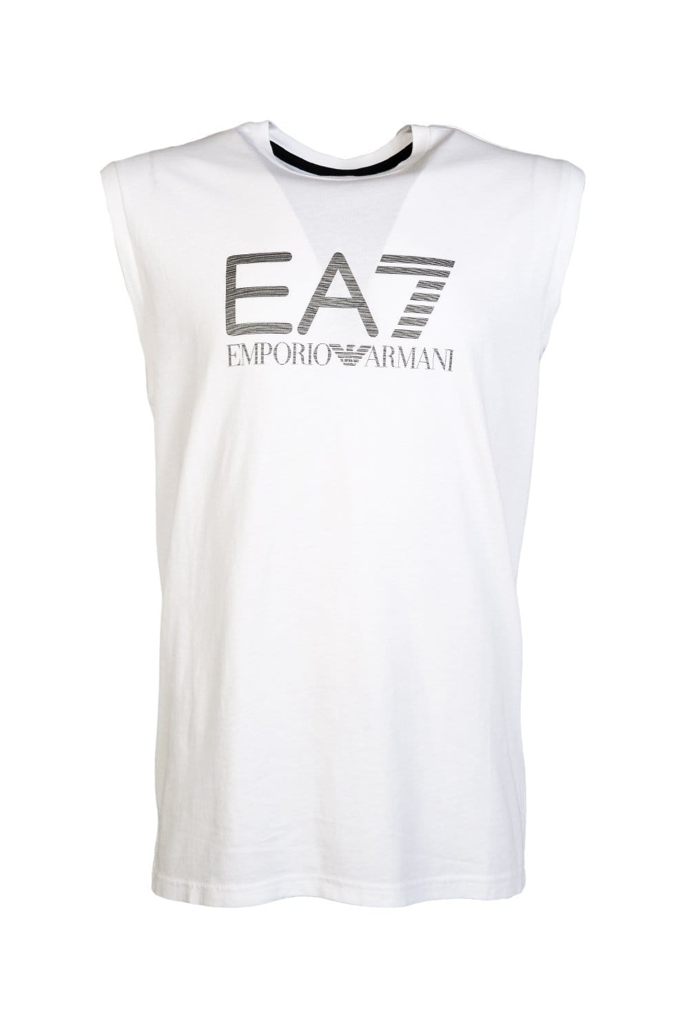 Ea7 t shirt white - Ea7 By Emporio Armani Sleeveless T Shirt In White Red And Navy Blue 2730965p237 Ea7 Emporio Armani From Sage Clothing Uk