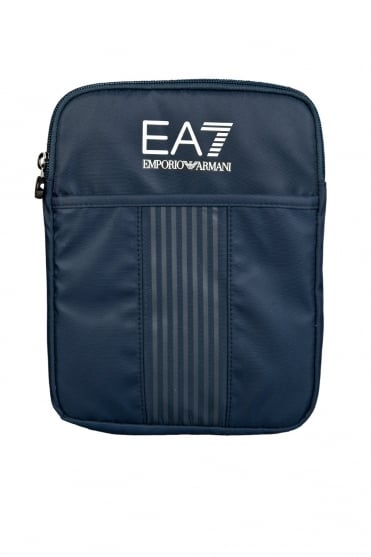 EA7 by Emporio Armani Sporty Messenger Bag in Black and Navy Blue 2751005P296