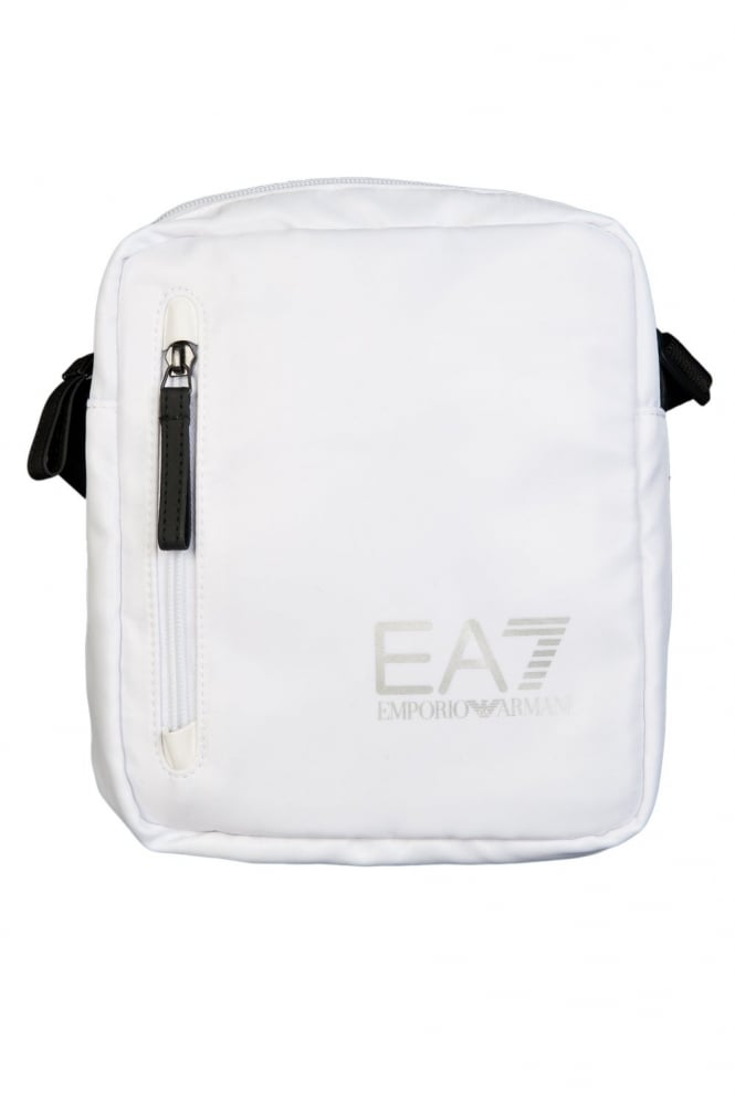 EA7 by Emporio Armani Sporty Messenger Bag in Black  White and Royal Blue 2754235P298