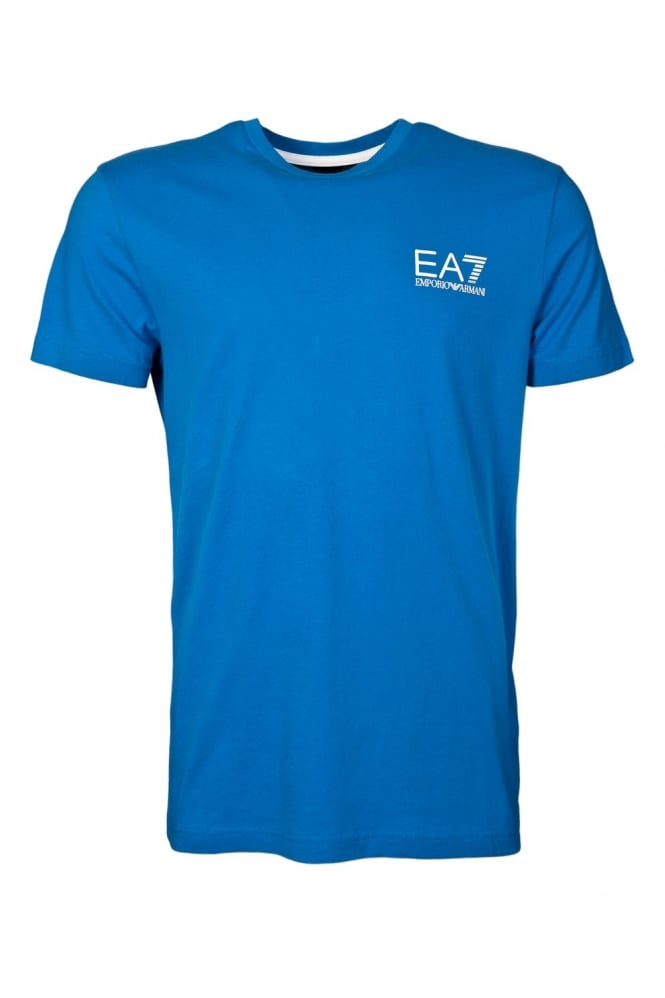 EA7 by Emporio Armani Sporty Round Neck T-shirt in White  Red and range of colours 2730065P237